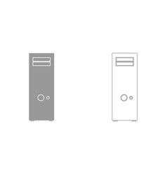 computer case or system unit it is icon vector image