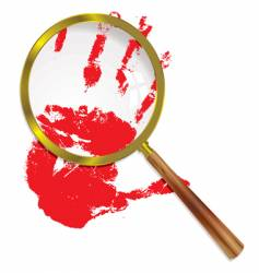 magnify blood vector image