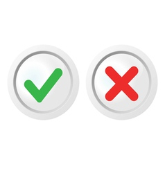 pass and fail icons set vector image vector image