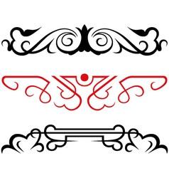 set calligraphic design elements vector image vector image