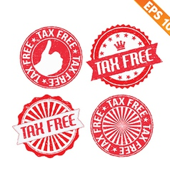 Stamp sticker tax free collection - - EPS10 vector image