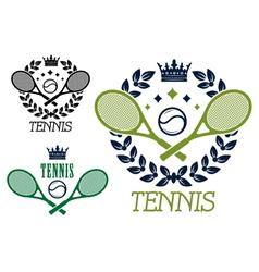 Tennis championship emblems or badges vector image vector image