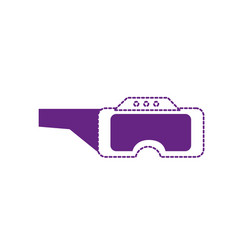 dotted shape 3d glasses technology object to vector image
