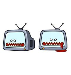 Evil television set vector image vector image