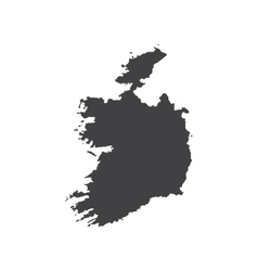 Ireland map silhouette vector image