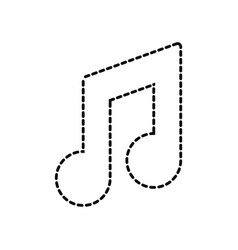 music sign vector image vector image
