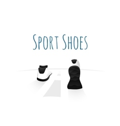 Sport shoes wellness running concept logo vector image