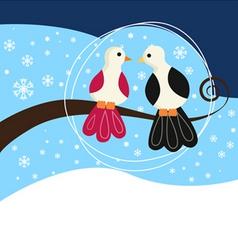 couple birds vector image