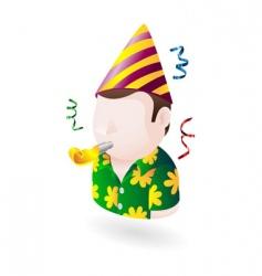 party dude icon vector image vector image