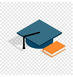student hat and book isometric icon vector image