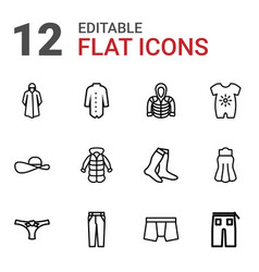 12 wear icons vector