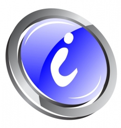 3d information button vector image