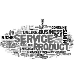 A business in one sentence text word cloud concept vector