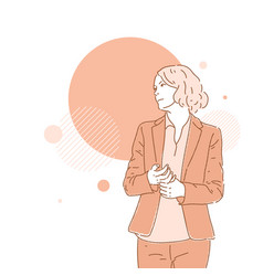 A business lady in suit template for your vector