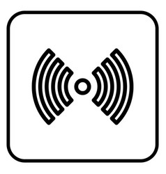 a wireless network icon vector image