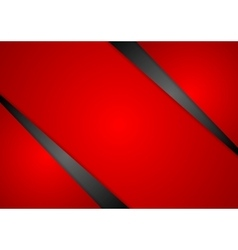 Abstract red corporate background vector image