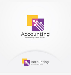 accounting logo vector image