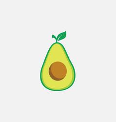 Avocado flat icon design fruit vector