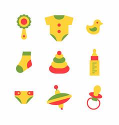 bathings icons set vector image