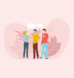 best friends having good time together scene vector image