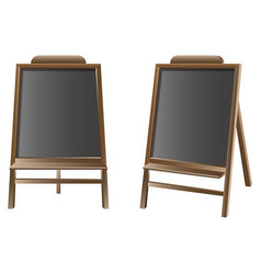 Black board isolated set vector
