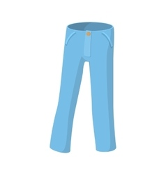 Blue jeans icon cartoon style vector image