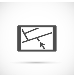 Car navigation device icon vector
