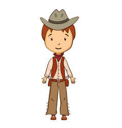 cartoon cowboy character vector image