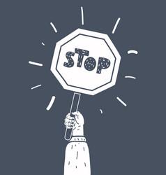 cartoon stop sign vector image