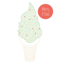Christmas ice cream vector