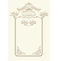 Classical vintage old frame design vector