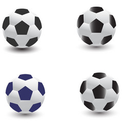collection soccer ball design isolated on white vector image