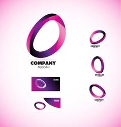 Coporate business media circle logo vector