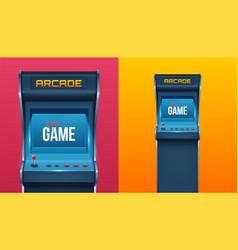 Creative arcade game vector