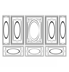 Decorative Ornamented frames vector image