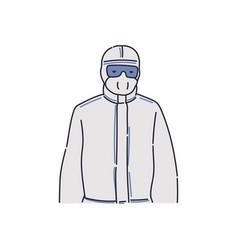 Doctor un full protective medical suit - cartoon vector