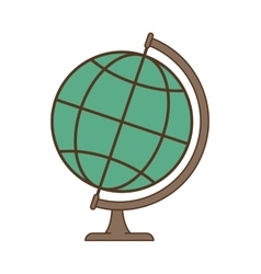 Earth globe object vector