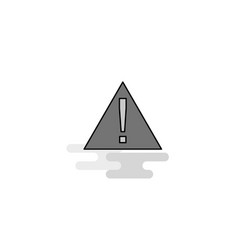 error web icon flat line filled gray icon vector image