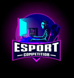 esport competition insignia vector image