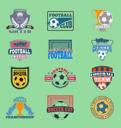 European football soccer lable emblem vector