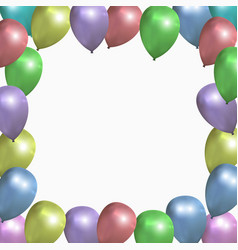 festive frame with colored balloons vector image