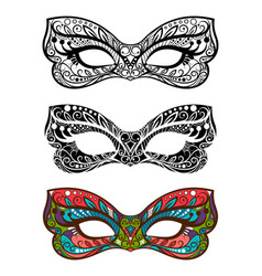 festive masks set vector image