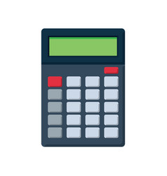 Flat icon of calculator vector