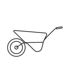 garden wheelbarrow simple gardening icon in vector image