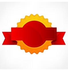 Golden award with ribbon vector image vector image