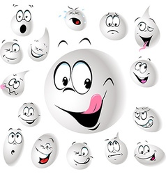 grinning and smiling drop of milk vector image