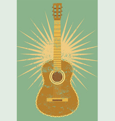guitar vintage typographical grunge poster vector image
