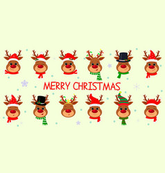 happy new year and merry christmas set twelve vector image