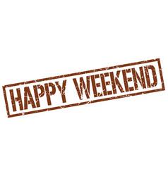 Happy weekend stamp vector