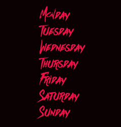 Hello weekly hand lettering png design vector